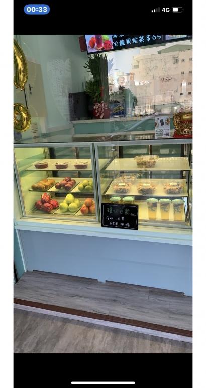 直角3尺3層蛋糕展示櫃